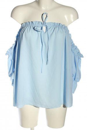 SassyClassy Blusa alla Carmen blu stile casual
