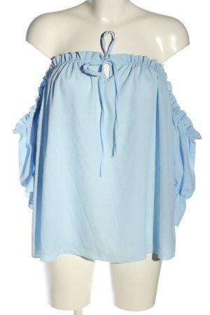 SassyClassy Carmen-Bluse blau Casual-Look
