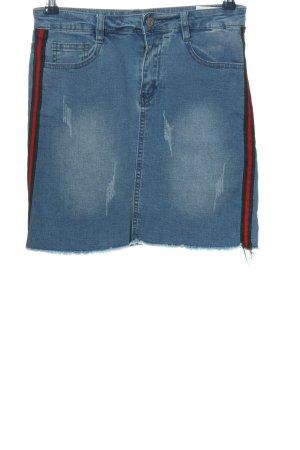 SassyClassy Jeansowa spódnica niebieski W stylu casual