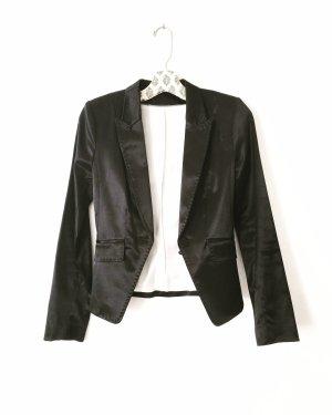 satin blazer • schwarz • vintage • classy • businesslook