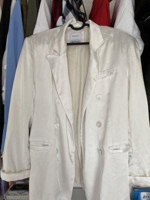 Bershka Lange blazer wit