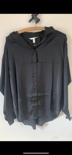 H&M Kołnierzyk koszulowy czarny