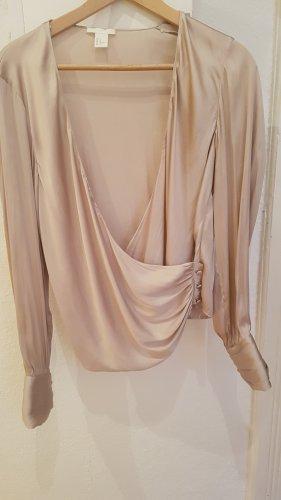 H&M Glanzende blouse goud