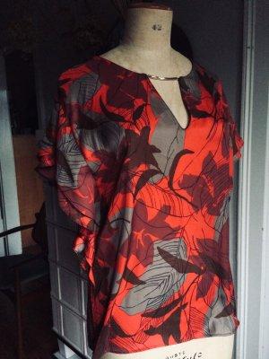 Satin Bluse, Kimono, Gr. 38, ungetragen, Florale Bluse, Zara-Lovers