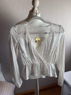 H&M Lace Blouse cream-natural white
