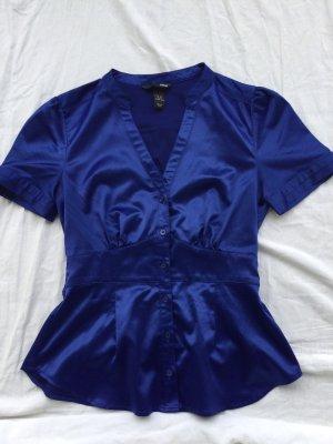 H&M Blusa brillante blu