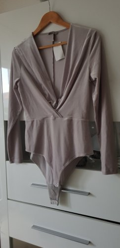 H&M Bodysuit Blouse light grey