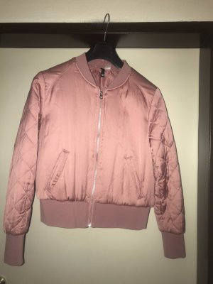 Satin Bomberjacke in Rosa