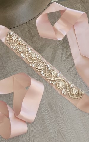 Aldo Fabric Belt dusky pink