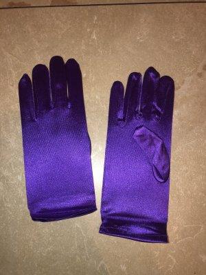 Satin Handschuhe neu lila