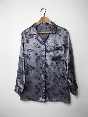 Satin Hemd im Pyjama Stil