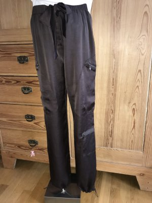 Made in Italy Pantalone alla turca marrone scuro Poliestere