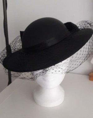 Cloche Hat black mixture fibre