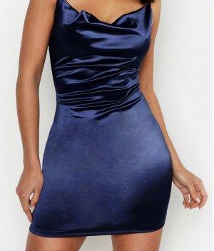 Satin Kleid blau