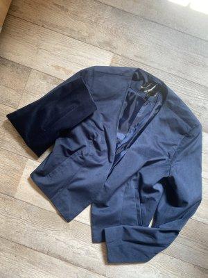 Satin kurz blazer kurzblazer elegant Business marineblau dunkelblau Anzug