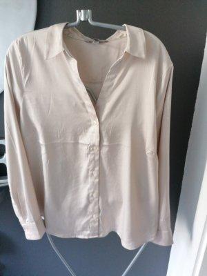 H&M Glanzende blouse licht beige