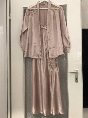 Set lingerie color oro rosa-rosa antico