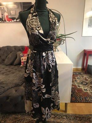 Jennifer Taylor Vestido de cuello Halter negro-blanco