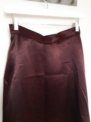 H&M Jupe en soie rouge mûre