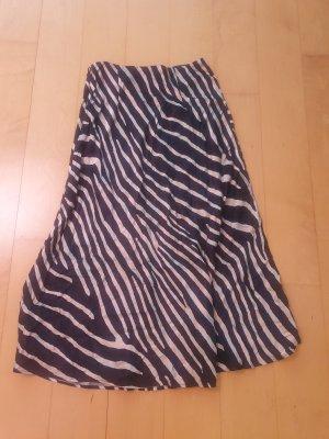 Spódnica maxi czarny-beżowy