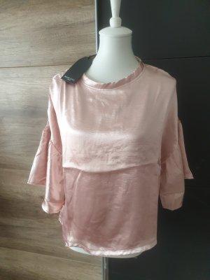 satin rosa Bluse