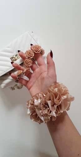 Satin Scrunchie rosegold 90s