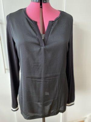 Alba Moda Koszulka z dekoltem w kształcie litery V czarny