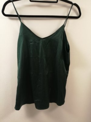 Spaghetti Strap Top dark green cotton