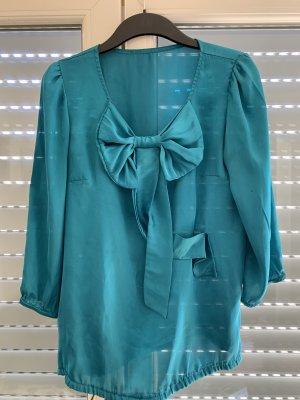 Satin spring blouse