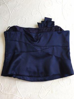 Silk Top dark blue