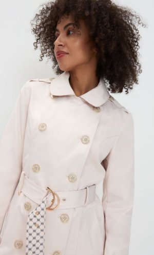Mohito Trench Coat gold-colored-natural white