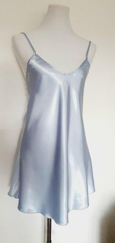 Satin Unterhemd Nightie Gr 36/38 blau