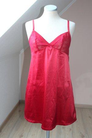 Satin Unterkleid Negligee rot neu Spitze Gr. 38
