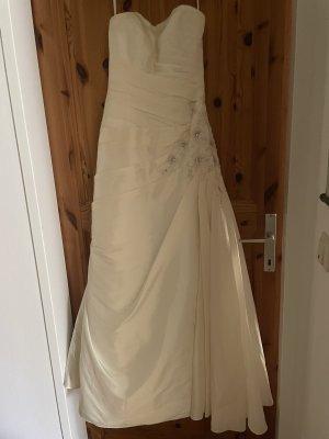 BALINA JOPPICH Cekinowa sukienka w kolorze białej wełny
