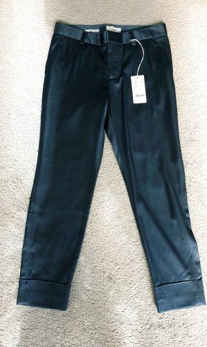Closed 7/8 Length Trousers petrol mixture fibre