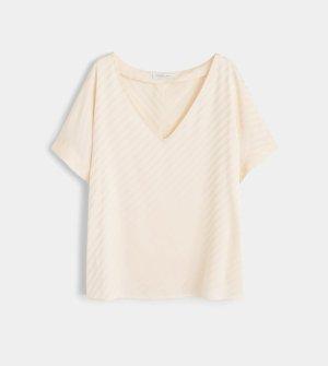 Satinierte Bluse mit Streifen