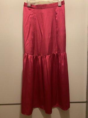 Topshop Jedwabna spódnica różowy