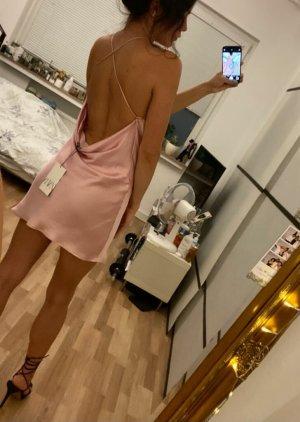Satiniertes Kleid Rosa Zara S