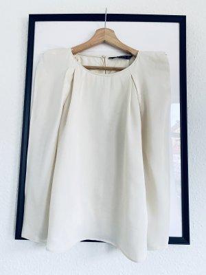 Zara Blusa brillante crema