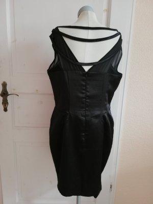 Satinkleid Cocktailkleid schwarz Gr. 44 Fashion Union Cocktailkleid schwarz Etuikleid Kleid elegant EUR 18 D 44