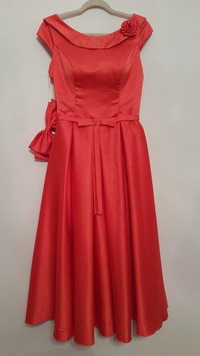 Vestido corsage rojo claro