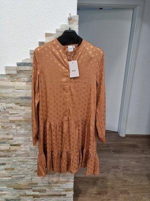 Ichi Robe mi-longue chameau-beige
