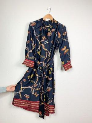 Zara Sukienka tunika czerwony-niebieski