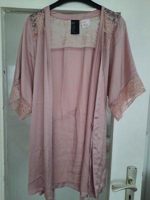 H&M Badjas stoffig roze Satijn