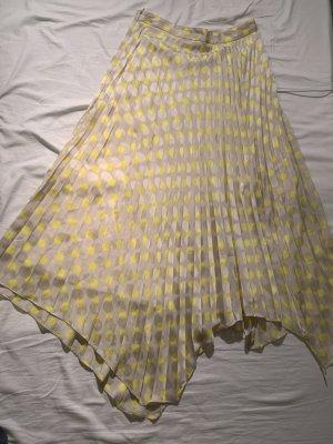 Zara Falda asimétrica color plata-amarillo