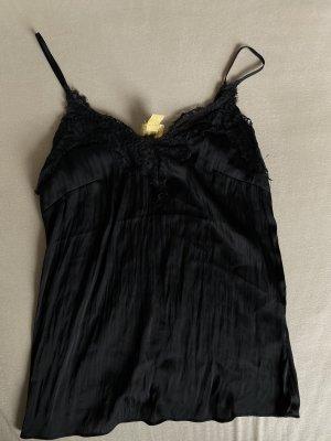 H&M Top in seta nero