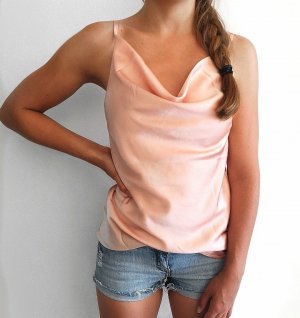 """Satintop"" in rosa mit Wasserfallausschnitt – M"