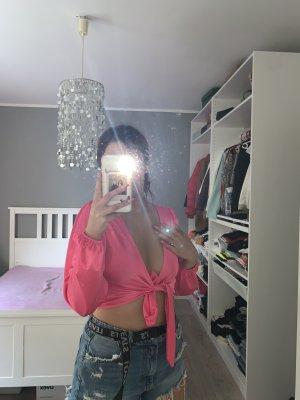 ASOS DESIGN Zijden blouse neonroos