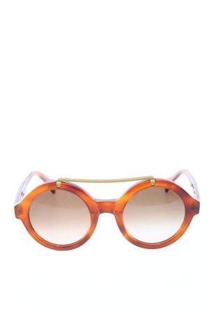 SATURNINO Lunettes de soleil rondes brun-orange clair style décontracté