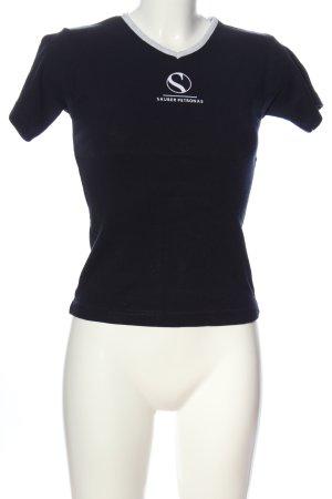 Sauber Petronas T-Shirt schwarz-weiß Motivdruck Casual-Look